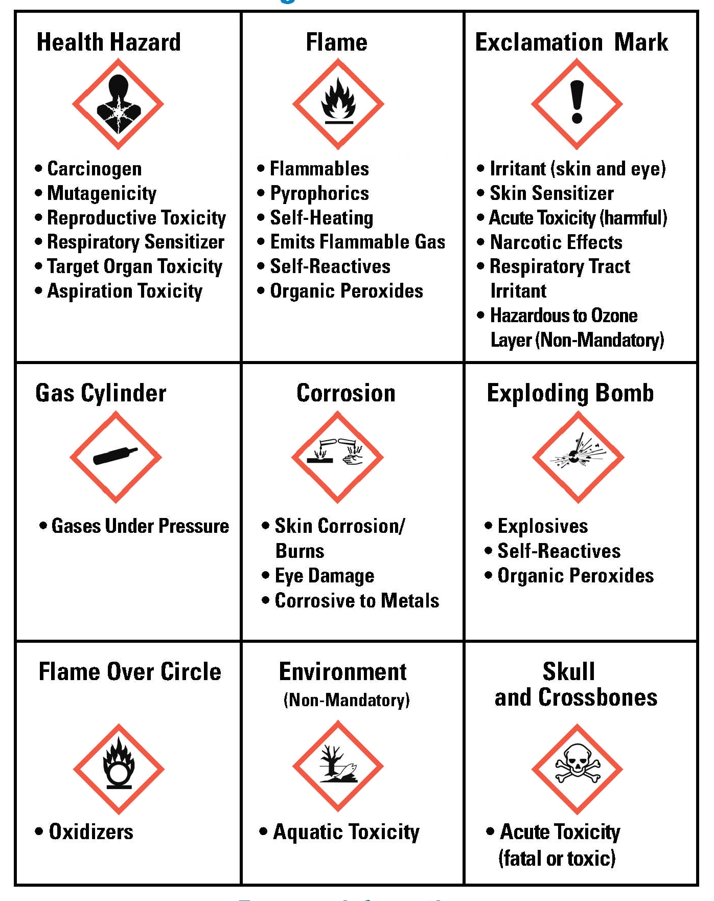 chemical hazard system pictograms hazcomprg safety standard diamond safetymanual communication health ghs harmonized globally ehsrm environmental